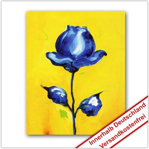 Leinwanddruck Motiv: Blaue Blume