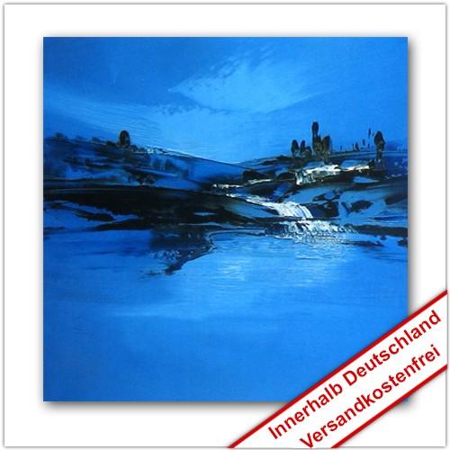 Leinwanddruck Motiv: Blaue Landschaft