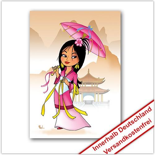 Leinwanddruck Motiv: China Mädchen