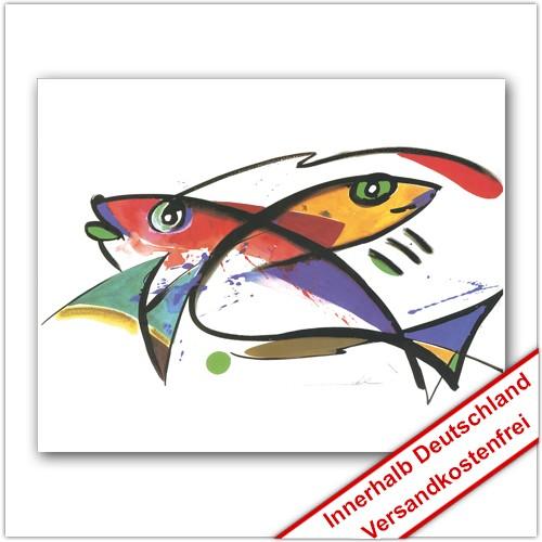 Leinwanddruck - Motive: Fische Modern