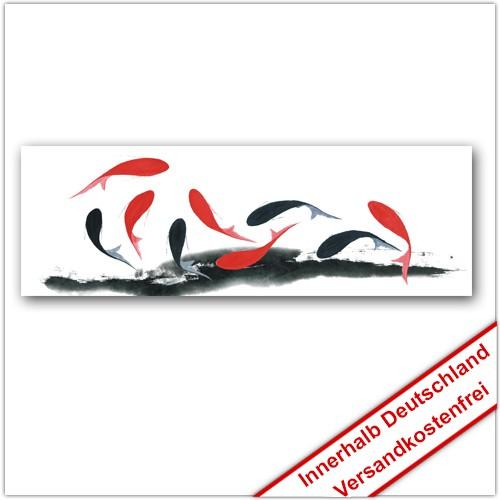 Leinwanddruck - Motive: Fische - schwarz und rot