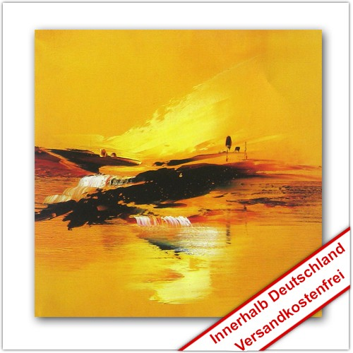 Leinwanddruck Motiv: Gelbe Landschaft
