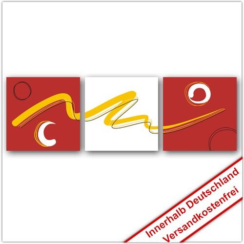 Leinwanddruck - Motive: Gelbes Band - 3 Teiler