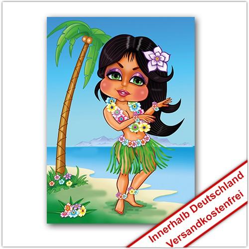 Leinwanddruck Motiv: Hawaii Mädchen
