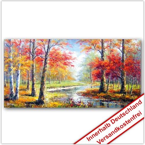 Leinwanddruck - Motive: Herbst Fluss
