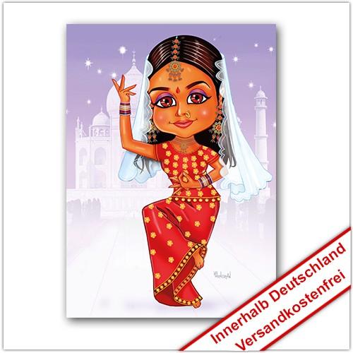 Leinwanddruck Motiv: Indisches Mädchen