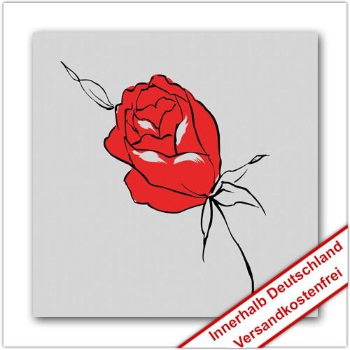 Leinwanddruck - Motive: Rose - Zeichnung 03
