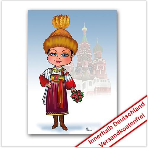 Leinwanddruck Motiv: Russland Mädchen