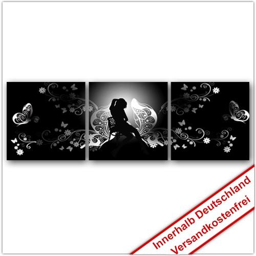 Leinwanddruck - Motive: Schattenfrau - 3 Teiler