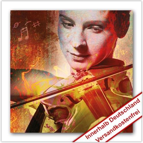 Leinwanddruck - Motive: Violinistin