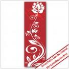 Leinwanddruck - Motive: Blumenranke - Rot