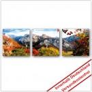Leinwanddruck - Motive: Herbst Gebirge - 3 Teiler