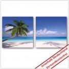Leinwanddruck - Motive: Palmen Strand - 2 Teiler