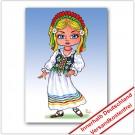 Leinwanddruck Motiv: Polnisches Mädchen