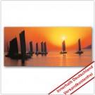 Leinwanddruck - Motive: Sonnenuntergang Schiffe