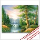 Leinwanddruck - Motive: Wald Bach