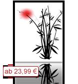 Leinwanddruck Blumen Motiv - Bambus 001