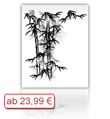 Leinwanddruck Blumen Motiv - Bambus 002