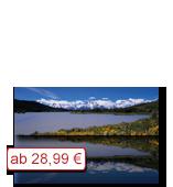 Leinwanddruck Motiv - Bergsee