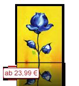 Leinwanddruck Motiv - Blaue Blume