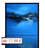 Leinwanddruck Motiv - Blaue Landschaft