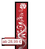 Leinwanddruck Blumen Motiv - Blumenranke Rot