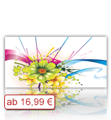 Leinwanddruck Motiv - Farbklecks Blumen