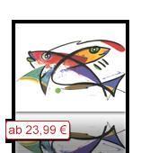 Leinwanddruck Motiv - Fische - Modern