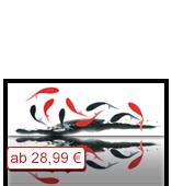 Leinwanddruck Motiv - Fische - schwarz und rot