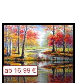 Leinwanddruck Motiv - Herbst Fluss
