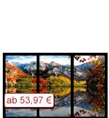 Leinwanddruck Motiv - Herbst Gebirge - 3 Teiler