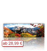 Leinwanddruck Motiv - Herbst Gebirge