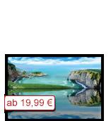 Leinwanddruck Motiv - Klippen Strand