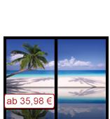 Leinwanddruck Motiv - Palmen Strand - 2 Teiler