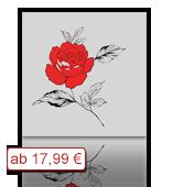 Leinwanddruck Motiv - Rose - Zeichnung 001