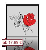 Leinwanddruck Motiv - Rose - Zeichnung 002