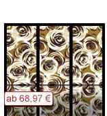 Leinwanddruck Motiv - Rosen - 3 Teiler