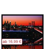 Leinwanddruck Motiv - Skyline Philadelphia - Klein