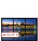 Leinwanddruck Motiv - Skyline Saint Louis - 3 Teiler