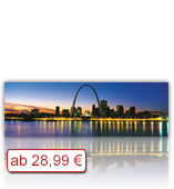 Leinwanddruck Motiv - Skyline Saint Louis