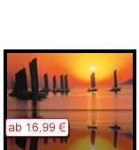 Leinwanddruck Motiv - Sonnenuntergang Schiffe