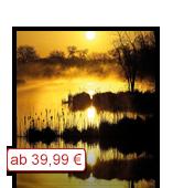Leinwanddruck Motiv Sonnenuntergang See
