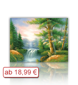 Leinwanddruck Motiv - Wald Bach