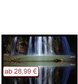 Leinwanddruck Motiv - Wasserfall 001 - Groß