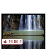 Leinwanddruck Motiv - Wasserfall 001 - Klein